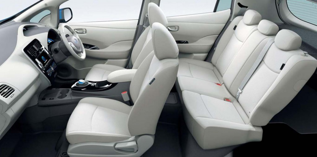 Nissan-Leaf-2015-best-economical-hatchback-white-seating