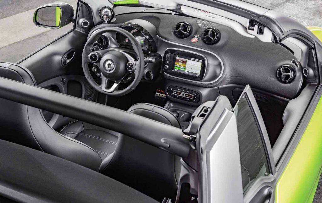 Sky look Small Economical Car Smart Fortwo Cabriolet 2017