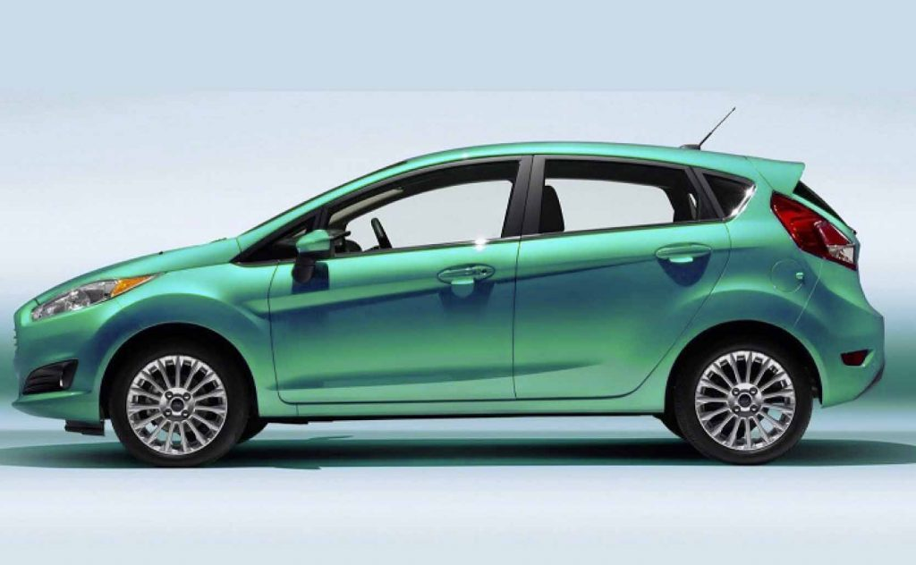 Fuel Efficient Non Hybrid Cars Ford Fiesta SE EcoBoost side view