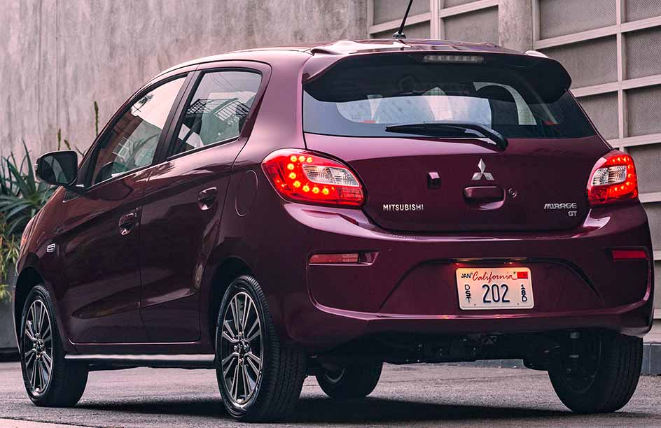 Mitsubishi Mirage 2017 Fuel Efficient back view