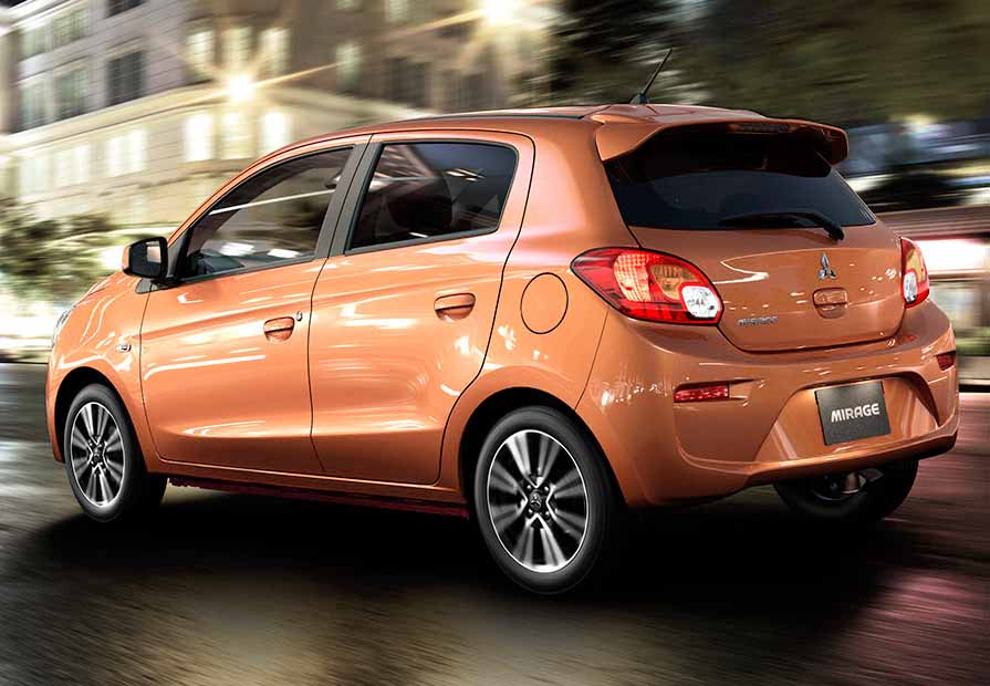 Fuel Efficient Non Hybrid Cars Mitsubishi Mirage CVT Trans complete view