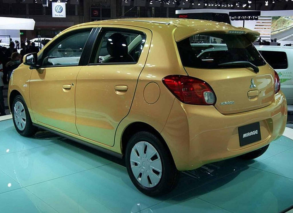 Fuel Efficient Non Hybrid Cars mitsubishi-mirage-mt-complete view
