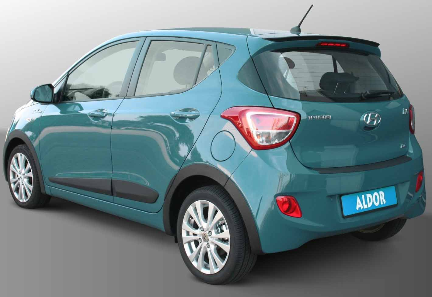 small automatic car economical hyundai-i10 back view