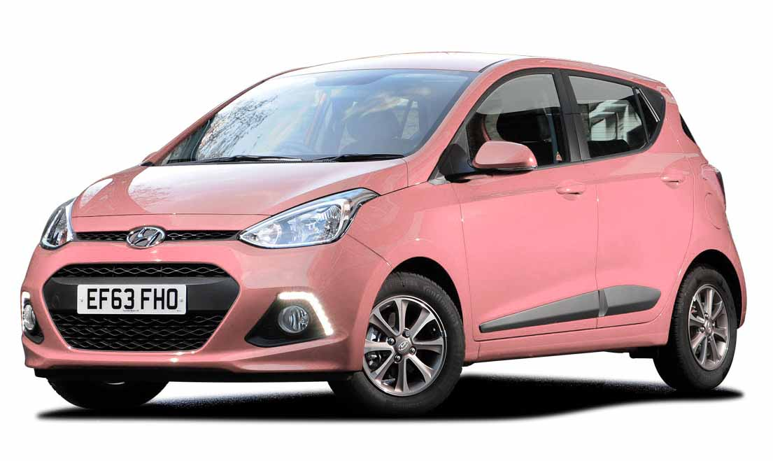 Small Automatic Car Economical Hyundai I10 Front View