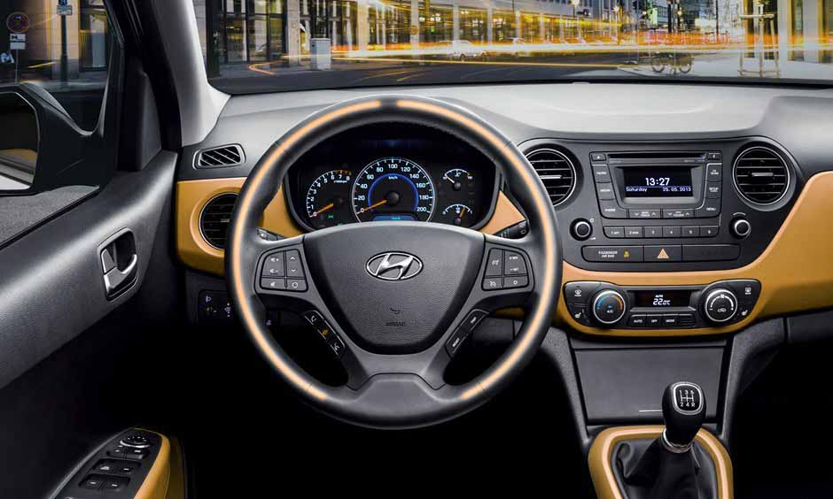 small automatic car economical hyundai-i10 interior view