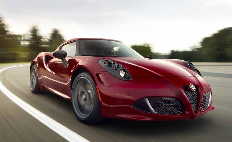 fuel efficient sports cars automatic transmission Alfa Romeo 4C front