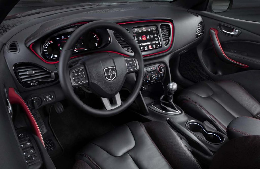 manual car interior