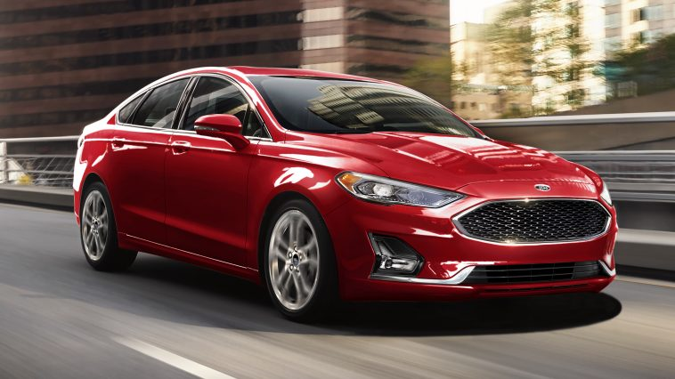 Red Fuel Efficient Ford Fusion