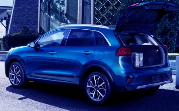 Side view of Fuel Efficient Kia Niro